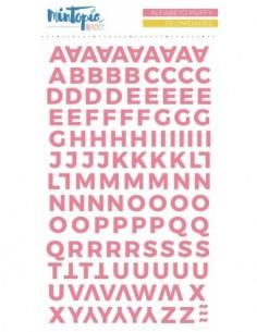 Alfabeto puffy Mintopía...