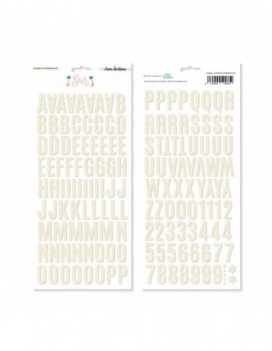 Alfabeto chipboard de Lora Bailora...