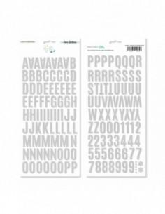 Alfabeto chipboard de Lora...