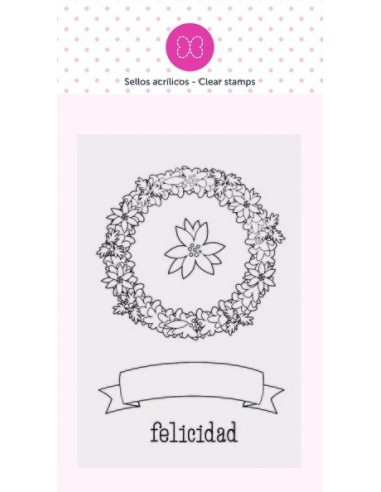 Sello Felicidad - 9x6 cm