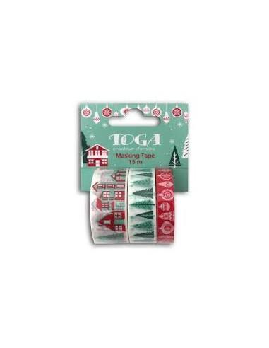Kit de 3 Washi tapes Feliz Navidad 3...