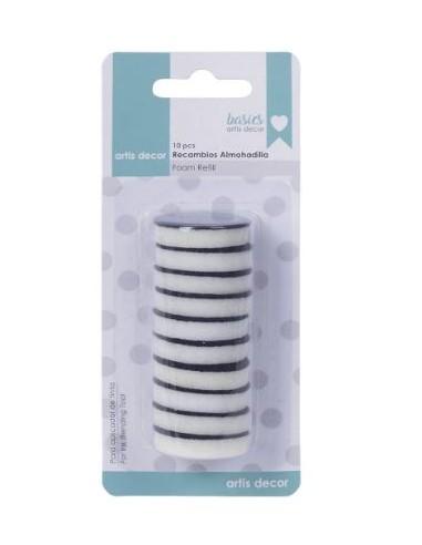 Pack 10 esponjas redondas 3cm