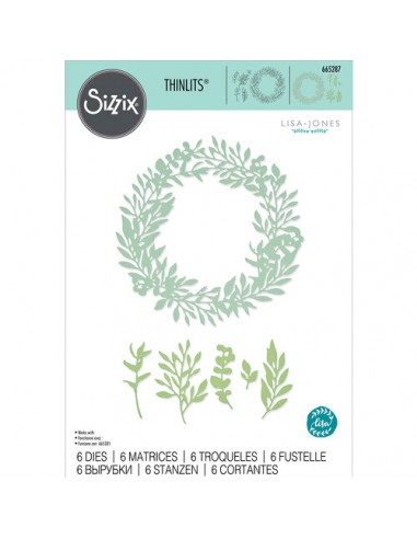 Sizzix Thinlits Wild Leaves Wreath by...