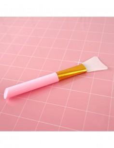 Espátula de silicona para adhesivos y mixmedia de Alua Cid color Rosa
