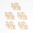 Scrapbook elementos de chipboard cortados de laser Love 1