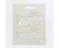 Scrapbook elementos de chipboard cortados de laser - Marco 6
