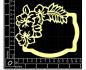 Scrapbook elementos de chipboard cortados de laser - IDEA1467