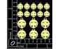 Scrapbook elementos de chipboard de Navidad cortados de laser IDEA1490