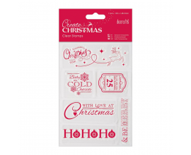 Kit de 6 mini sellos acrílicos - Navidad Sentimientos