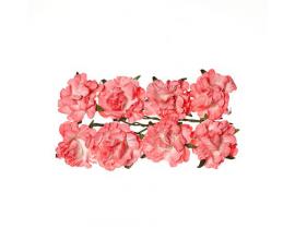 Flores de papel de ScrapBerry's Rose - White