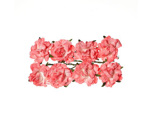 Flores de papel de ScrapBerry's Curly Rose - Cream White