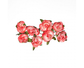 Flores de papel de ScrapBerry's Rose - White