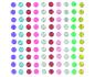 Kit de 80 stickers de cristal en forma de flores de Artemio