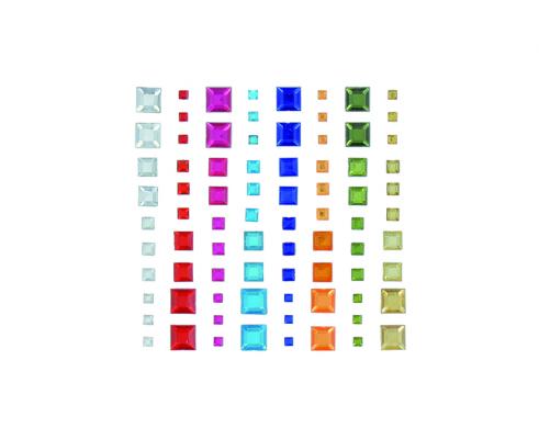 Kit de 100 stickers de cristal en forma de corazones de Artemio