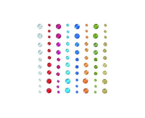 Kit de 80 stickers de cristal autoadhesivos cuadrados de Artemio