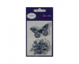 Sello acrilico de Sra. Granger - Mariposa y Rosal