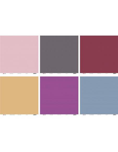 Set de 6 cartulinas texturizadas de doble cara - Los Básicos de Elena - colores del Mediterráneo