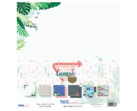 Puerto Coconut de Quim Díaz - kit de 6 papeles de scrapbook