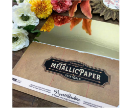 Metallic Paper for Traveler de Vintage Odissey - Kit de 6 papeles de doble cara
