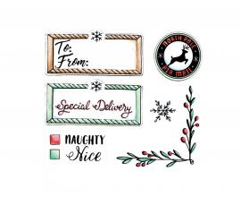 Kit de 40 troqueles Gift card bag para crear bolsa para tarjeta regalo by Tim Holtz
