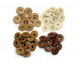 Kit de 40 eyelets de WeR Memory Keepers - Wide color Marrón