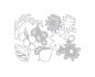 Kit de 3 troqueles thinlits de Sizzix Geo Springtime de Tim Holtz