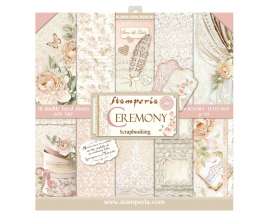 Kit de 10 papeles de scrapbook de Stamperia - Shabby Rose