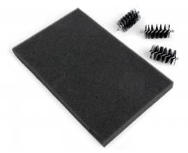 Recambio cepillo y alfombrilla para quitar exceso papel troqueles finos