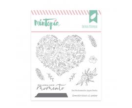Sello de Mintopia de colección Bonita - Corazón de Flores