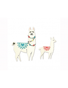 Set de 11 troqueles Thinlits  de Sizzix - Llama and Baby de Katelyn Lizardi