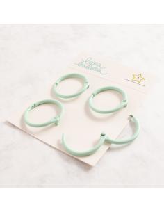 Kit de 4 anillas de 30 mm. de Lora Bailora color Amarillo