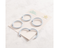 Kit de 4 anillas de 45 mm. de Lora Bailora color Rosa
