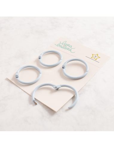 Kit de 4 anillas de 30 mm. de Lora Bailora color Lavanda