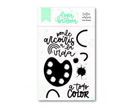 Kit de sellos acrílicos 7,5x10 cm. de Lora Bailora col. Bali - Pinceladas