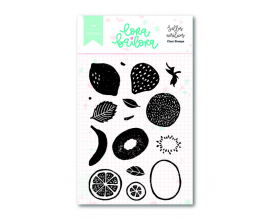 Kit de sellos acrílicos 7,5x10 cm. de Lora Bailora col. Bali - Bordes