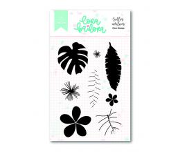 Kit de sellos acrílicos 7,5x10 cm. de Lora Bailora col. Bali - Fruits