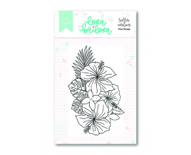 Kit de sellos acrílicos 7,5x10 cm. de Lora Bailora col. Bali - Ramo Bali