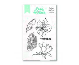 Kit de sellos acrílicos 7,5x10 cm. de Lora Bailora col. Bali - Flores Bali