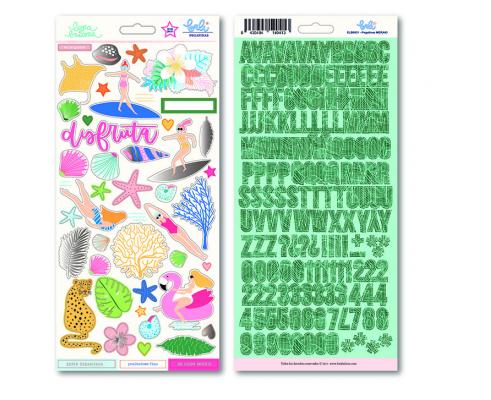 Pack de 210 pegatinas con foil de Lora Bailora de col. Bali