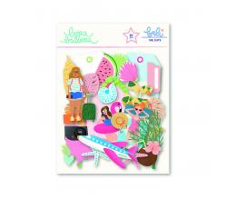 Kit de 60 formas precortadas en papel de Lora Bailora col. Bali