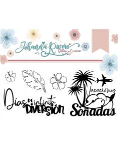 Mini Sello de Johanna Rivero - Pequeñas Vacaciones