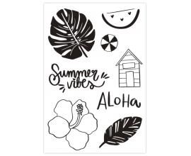 Set de sellos acrílicos 10x15 cm. de Sweet Möma col. Pink Lemonade - Summer Vibes