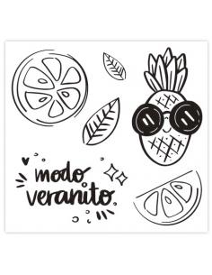 Set de sellos acrílicos 10x15 cm. de Sweet Möma col. Pink Lemonade - Marina