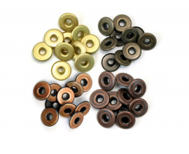Kit de 40 eyelets de WeR Memory Keepers - Wide colores Metalizados Cálidos