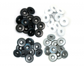 Kit de 40 eyelets de WeR Memory Keepers - Wide Gris 13mm.