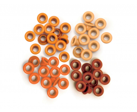 Kit de 60 eyelets de WeR Memory Keepers - Standart color Naranja
