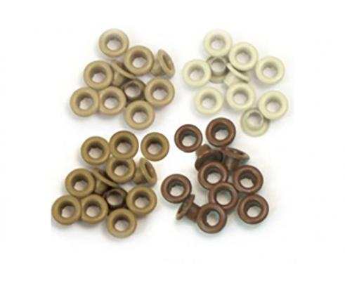 Kit de 60 eyelets de WeR Memory Keepers - Standart color Marrón
