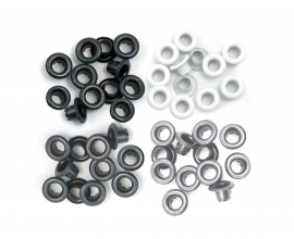 Kit de 60 eyelets de WeR Memory Keepers - Standart color Gris