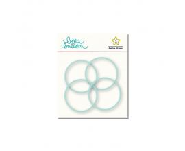 Kit de 4 anillas de 45 mm. de Lora Bailora color Mint