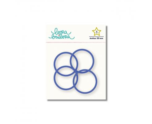 Kit de 4 anillas de 30 mm. de Lora Bailora color Índigo